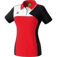 Erima Premium One Polo Dames - Rood / Zwart / Wit