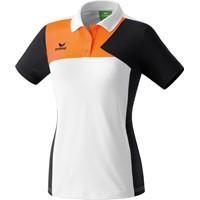 Erima Premium One Polo Dames - Wit / Zwart / Neon Oranje