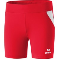 Erima Short Tight Dames - Rood / Wit