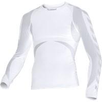 Hummel Seamless Bodywear Voetbalshirt Lange Mouw - Wit