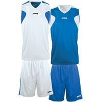 Joma Reversible Basketbalset - Wit / Royal