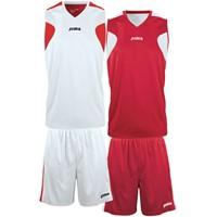 Joma Reversible Basketbalset - Wit / Rood