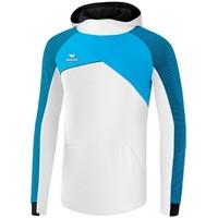 Erima Premium One 2.0 Sweatshirt Met Capuchon Heren - Wit / Curaçao / Zwart