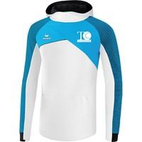 Erima Premium One 2.0 Sweatshirt Met Capuchon Kinderen - Wit / Curaçao / Zwart