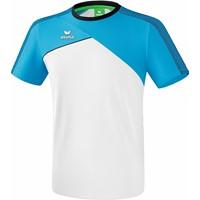 Erima Premium One 2.0 T-Shirt Heren - Wit / Curaçao / Zwart
