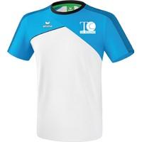Erima Premium One 2.0 T-Shirt Kinderen - Wit / Curaçao / Zwart