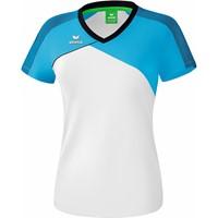 Erima Premium One 2.0 T-Shirt Dames - Wit / Curaçao / Zwart