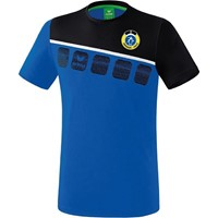Erima 5-C T-Shirt Kinderen - New Royal / Zwart / Wit