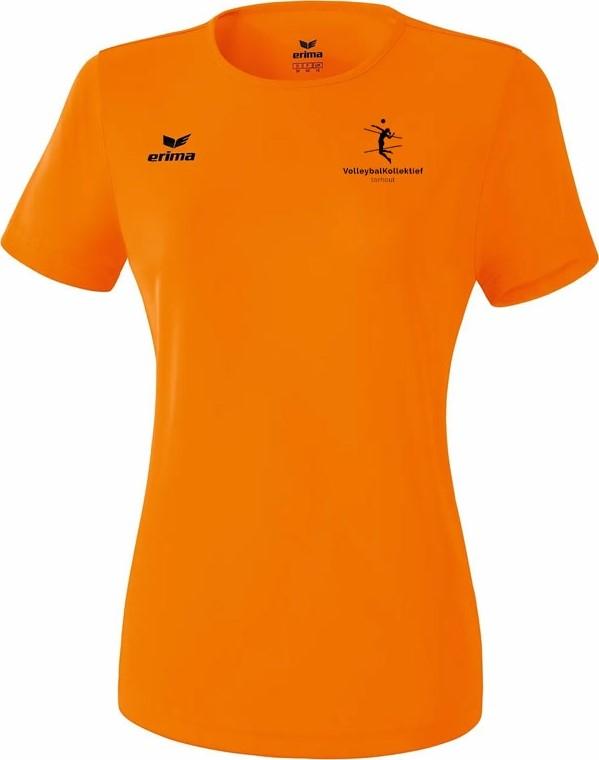 Picture of Erima Teamsport Functioneel T-Shirt Dames - Oranje