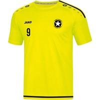 Jako Striker 2.0 Shirt Korte Mouw Heren - Fluogeel / Zwart
