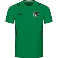 Jako Challenge Shirt Korte Mouw Kinderen - Sportgroen / Zwart