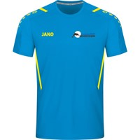 Jako Challenge Shirt Korte Mouw Heren - Jako Blauw / Fluogeel