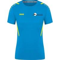 Jako Challenge Shirt Korte Mouw Dames - Jako Blauw / Fluogeel
