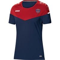 Jako Champ 2.0 T-Shirt Dames - Marine / Chilirood