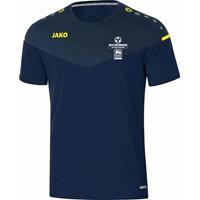 Jako Champ 2.0 T-Shirt Dames - Marine / Donkerblauw / Fluogeel