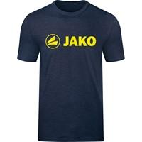 Jako Promo T-Shirt Kinderen - Marine Gemeleerd / Fluogeel