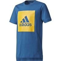 Adidas Essentials Logo T-shirt Kinderen - Marine / Geel