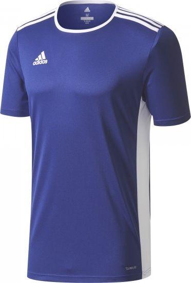 4ef1786ae87 Adidas Entrada 18 Shirt Korte Mouw Kinderen | Marine / Wit | Teamswear