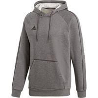 Adidas Core 18 Sweater Met Kap - Donkergrijs Gemeleerd