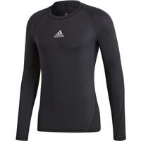 Adidas Alphaskin Shirt Lange Mouw Kinderen - Zwart