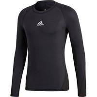 Adidas Alphaskin Shirt Lange Mouw - Zwart