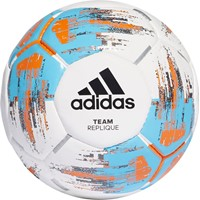 Adidas Team Replique Wedstrijd/trainingsbal - Wit / Cyaan / Oranje