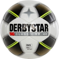 Derbystar Classic Tt (4 X 3 Gouden Vlakken) Trainingsbal - Wit / Zwart / Goud / Lime