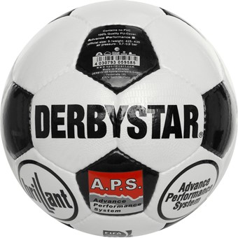 Picture of Derbystar Brillant Retro Wedstrijdbal - Wit / Zwart
