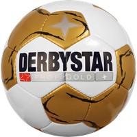 Derbystar Prof Gold Voetbal - Wit / Goud / Zwart