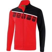 Erima 5-C Trainingsvest - Rood / Zwart / Wit