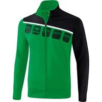 Erima 5-C Trainingsvest - Smaragd / Zwart / Wit