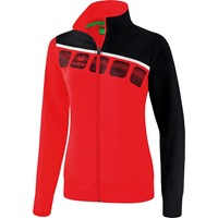 Erima 5-C Trainingsvest Dames - Rood / Zwart / Wit