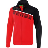 Erima 5-C Polyesterjack - Rood / Zwart / Wit
