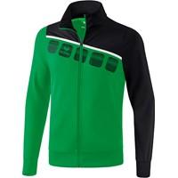 Erima 5-C Polyesterjack Kinderen - Smaragd / Zwart / Wit