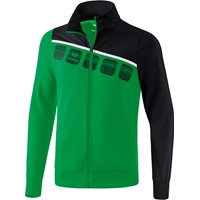 Erima 5-C Polyesterjack - Smaragd / Zwart / Wit