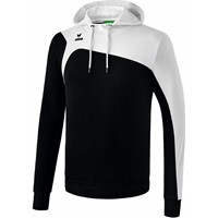 Erima Club 1900 2.0 Sweatshirt Met Capuchon Kinderen - Zwart / Wit