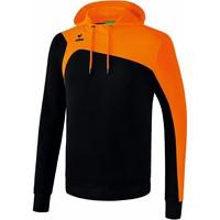 Erima Club 1900 2.0 Sweatshirt Met Capuchon Kinderen - Zwart / Oranje