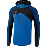 Erima Premium One 2.0 Sweatshirt Met Capuchon Kinderen - New Royal / Zwart / Wit