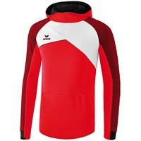 Erima Premium One 2.0 Sweatshirt Met Capuchon Kinderen - Rood / Wit / Zwart