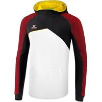 Erima Premium One 2.0 Sweatshirt Met Capuchon Kinderen - Wit / Zwart / Rood / Geel