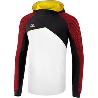 Picture of Erima Premium One 2.0 Sweatshirt Met Capuchon - Wit / Zwart / Rood / Geel