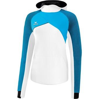 Picture of Erima Premium One 2.0 Sweatshirt Met Capuchon Dames - Wit / Curacao / Zwart