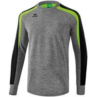 Erima Liga 2.0 Sweatshirt Kinderen - Grey Melange / Zwart / Green Gecco
