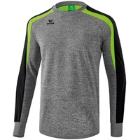 Erima Liga 2.0 Sweatshirt - Grey Melange / Zwart / Green Gecco