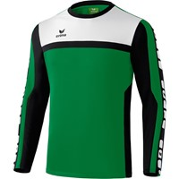Erima 5-cubes Trainingssweater - Smaragd / Zwart / Wit