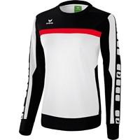 Erima 5-Cubes Sweatshirt Dames - Wit / Zwart / Rood