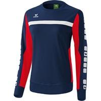 Erima 5-Cubes Sweatshirt Dames - New Navy / Rood
