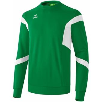 Picture of Erima Classic Team Sweatshirt - Smaragd / Wit