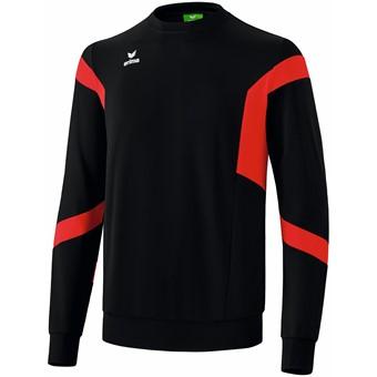 Picture of Erima Classic Team Sweatshirt - Zwart / Rood