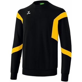 Picture of Erima Classic Team Sweatshirt - Zwart / Geel